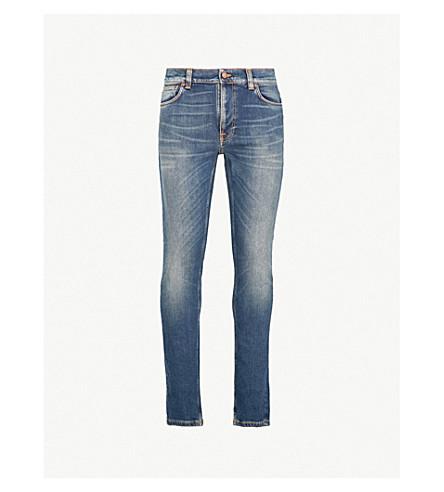 NUDIE JEANS Lean Dean slim-fit tapered jeans (Sparkling+blues