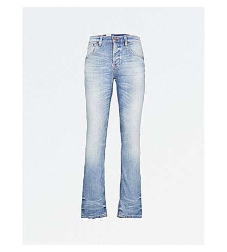 NUDIE JEANS Grim Tim slim-fit tapered jeans (Faded+ash