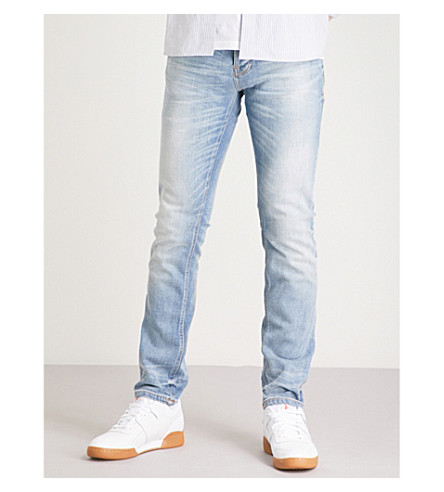 NUDIE JEANS Grim Tim slim-fit tapered jeans (Faded+ash