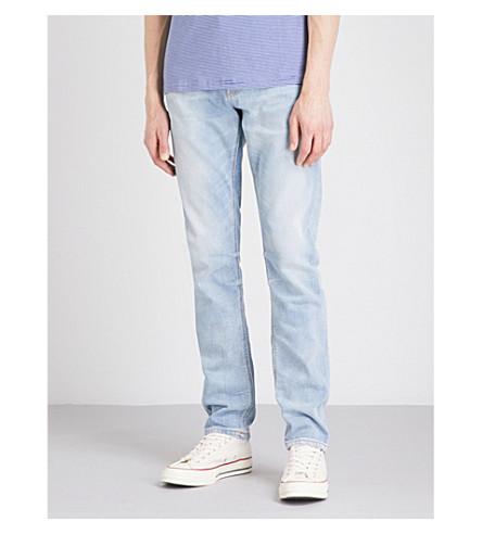 NUDIE JEANS Lean Dean slim-fit tapered jeans (Classic+used