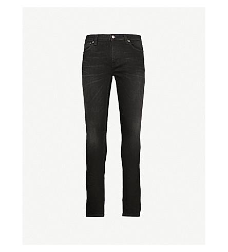NUDIE JEANS Skinny Lin skinny tapered jeans (Black+shadow