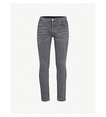 NUDIE JEANS 严峻的蒂姆修身版型直牛仔裤 (黑 + 海
