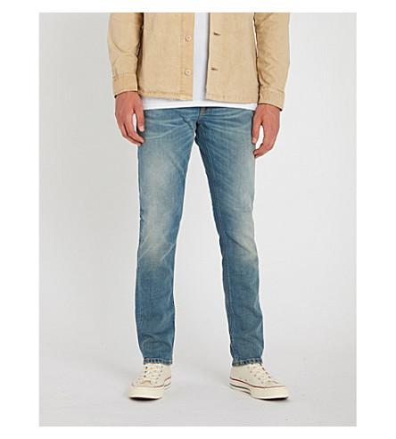 NUDIE JEANS Lean Dean slim-fit tapered jeans (Used cross