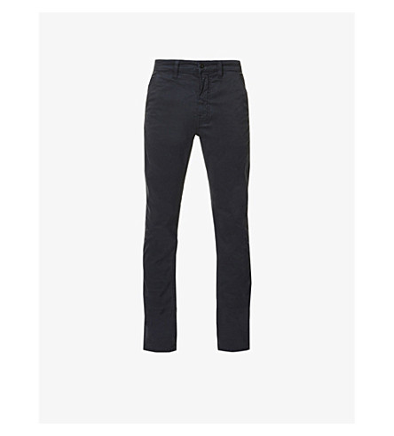 NUDIE JEANS Slim Adam slim-fit tapered stretch-cotton chinos (Dk+midnight