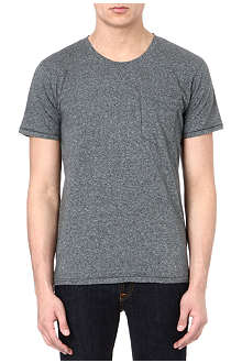 NUDIE JEANS Round-neck pocket t-shirt