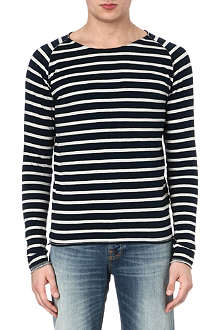 NUDIE JEANS Striped raglan top