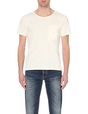 NUDIE JEANS Patch-pocket cotton-jersey t-shirt