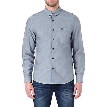 NUDIE JEANS Chambray Oxford shirt (Indigo