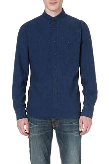 NUDIE JEANS Chest-pocket chambray shirt