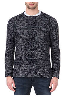 NUDIE JEANS Melange wool-blend knitted jumper