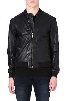 NUDIE JEANS Leather bomber jacket