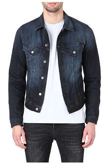 NUDIE JEANS Black-on-blue denim jacket