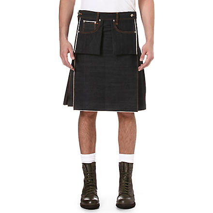 NUDIE JEANS Denim kilt (Indigo