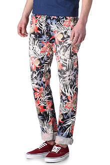 SCOTCH & SODA Bowie floral chinos