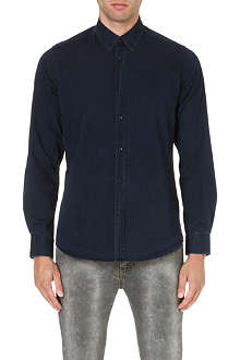 7 FOR ALL MANKIND Button-down collar denim shirt