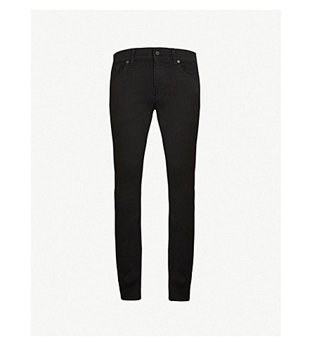 7 FOR ALL MANKIND Ronnie skinny-fit tapered jeans (Rinse+black