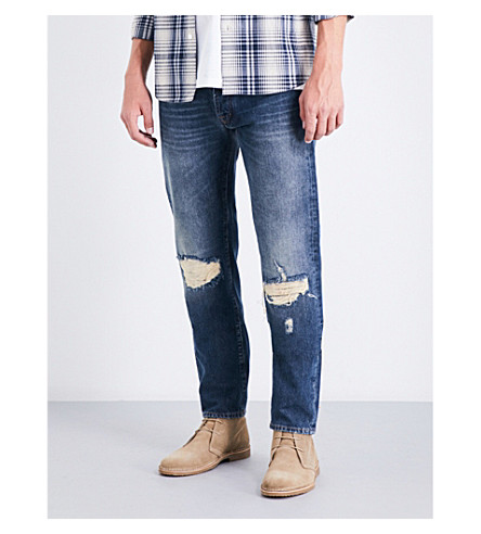 7 FOR ALL MANKIND Ronnie slim-fit skinny jeans (Mojave+desert+blue