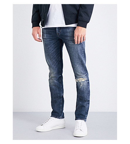 7 FOR ALL MANKIND Ronnie slim-fit skinny jeans (Colorado+desert+blue