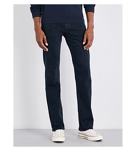 7 FOR ALL MANKIND Standard Luxe standard-fit straight jeans (Soho+deep+blue