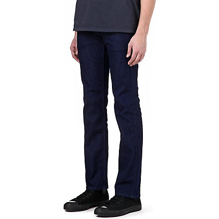 7 FOR ALL MANKIND Slimmy Luxe Performance slim-fit tapered jeans (Black