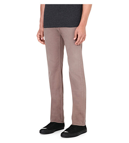 7 FOR ALL MANKIND Slimmy slim-fit tapered jeans (Beige