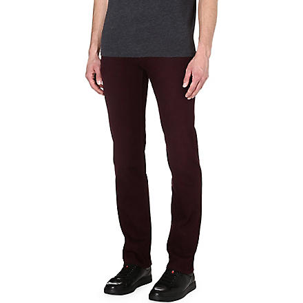 7 FOR ALL MANKIND Slimmy slim-fit straight jeans (Burgandy