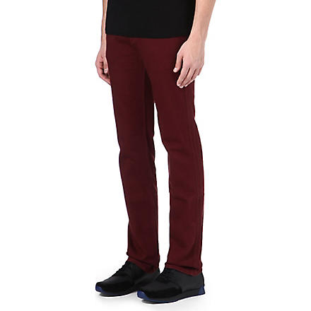 7 FOR ALL MANKIND Slimmy slim-fit tapered jeans (Burgandy
