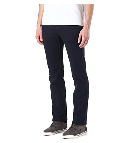 7 FOR ALL MANKIND Slimmy slim-fit tapered jeans (Navy