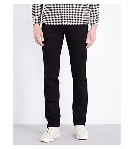 7 FOR ALL MANKIND Slimmy slim-fit tapered jeans (Rinse+black