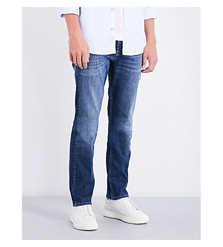 7 FOR ALL MANKIND Slimmy slim-fit tapered jeans (Mid used