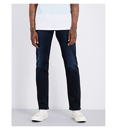 7 FOR ALL MANKIND Slimmy luxe performance slim-fit tapered jeans (Magnificent+blue+black