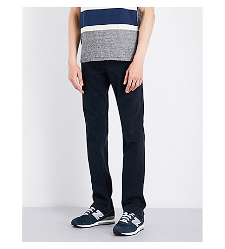 7 FOR ALL MANKIND Slimmy luxe performance slim-fit skinny jeans (Soho+deep+blue