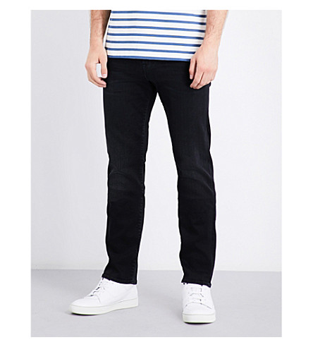 7 FOR ALL MANKIND Slimmy luxe performance slim-fit skinny jeans (Magnificent+washed+black