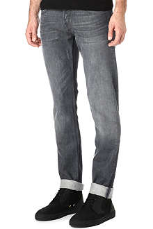 7 FOR ALL MANKIND Grey regular stretch-denim jeans