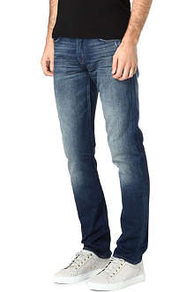7 FOR ALL MANKIND Dark blue regular-fit tapered jeans