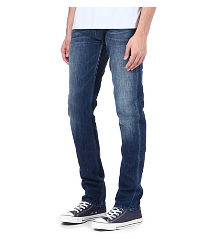 7 FOR ALL MANKIND Chad Bleu Sahara slim-fit straight jeans (Blue