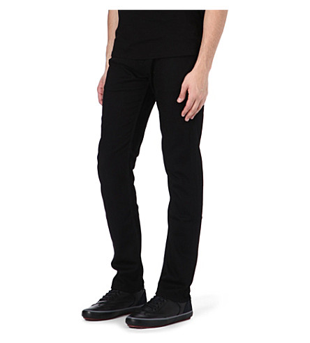 7 FOR ALL MANKIND Ronnie skinny-fit tapered jeans (Black