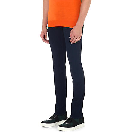 7 FOR ALL MANKIND Ronnie skinny-fit tapered jeans (Blue