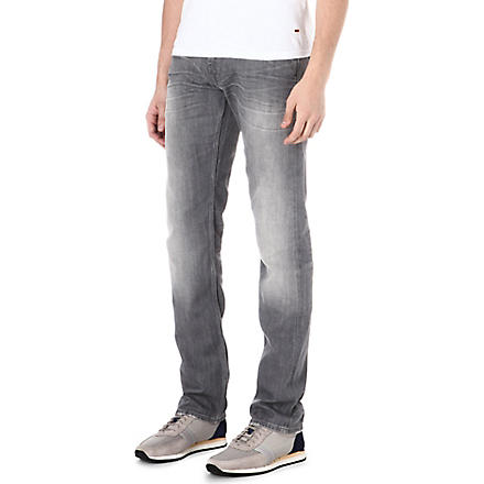7 FOR ALL MANKIND Slimmy slim-fit straight jeans (Grey