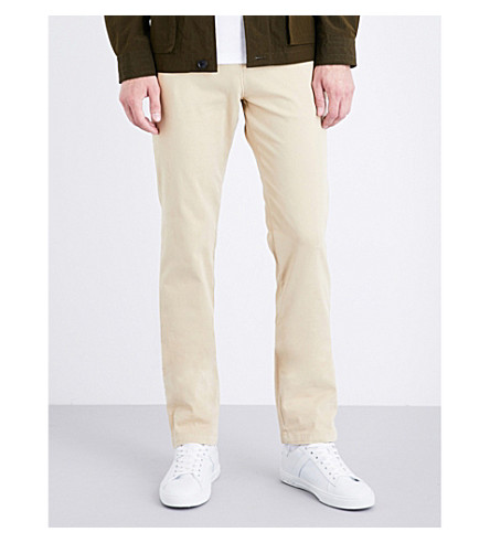 7 FOR ALL MANKIND Slimmy slim-fit tapered chinos (Beige