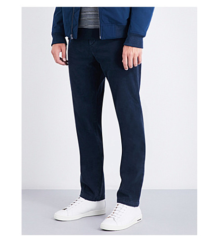 7 FOR ALL MANKIND Slimmy cotton-blend chinos (Navy