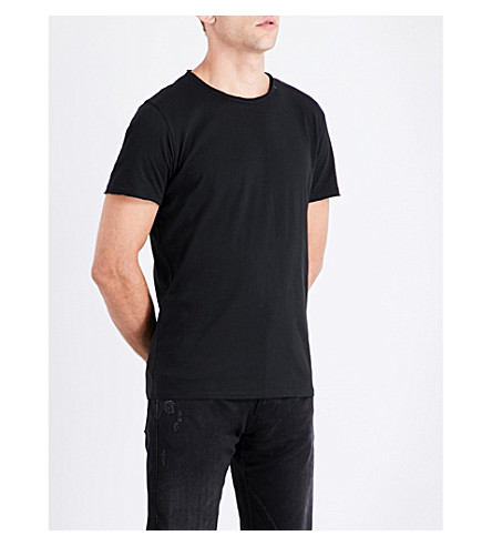 REPLAY Logo cotton T-shirt (Black