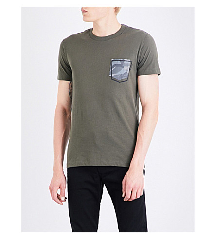 REPLAY Pocket cotton T-shirt (Green