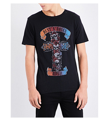 REPLAY Dust and Bones print cotton-jersey T-shirt (Black