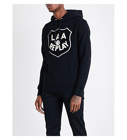 REPLAY Laa replay logo hoody (Black