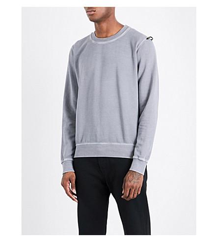 REPLAY Crewneck cotton-jersey sweatshirt (Grey