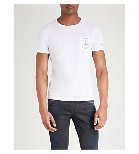 REPLAY This Is The City That I Love cotton-jersey T-shirt (White