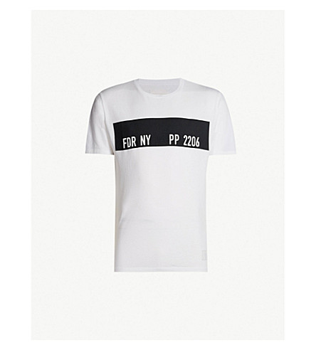 REPLAY Sport Lab rubberised-logo cotton-jersey T-shirt (White