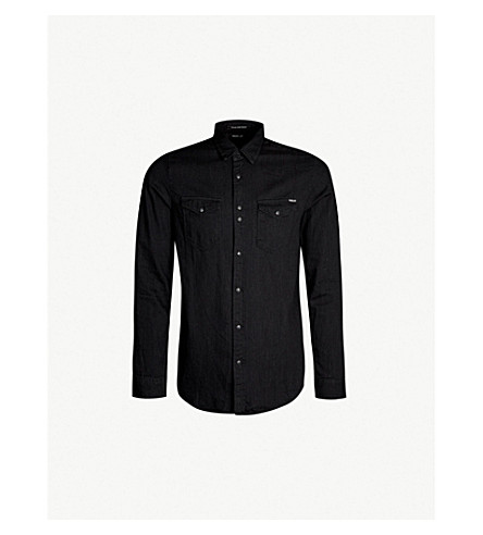REPLAY Regular-fit denim shirt (Black