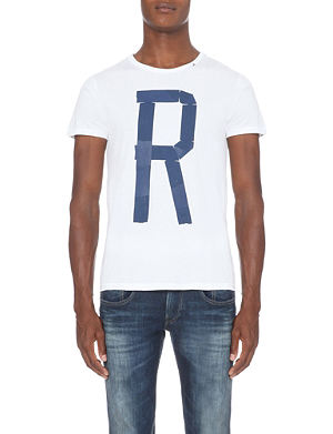 REPLAY Branded cotton-jersey t-shirt